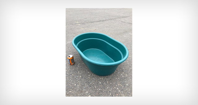 15 gallon plastic tub for farming and agricultural applications