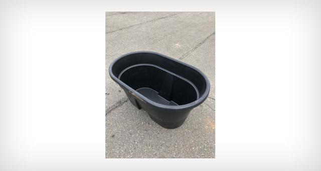 HD plastic tub for farming and agricultural applications