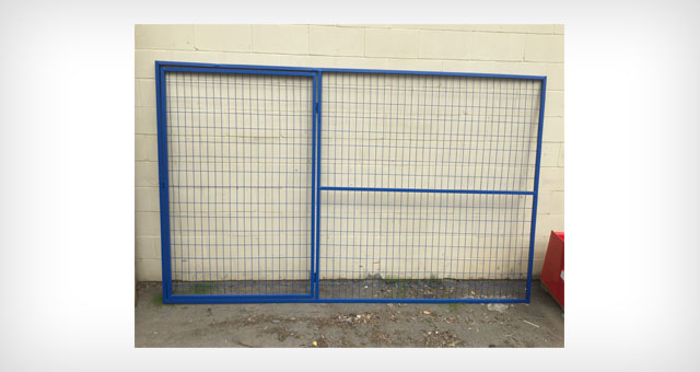 temporary fence panel with walk through man gate